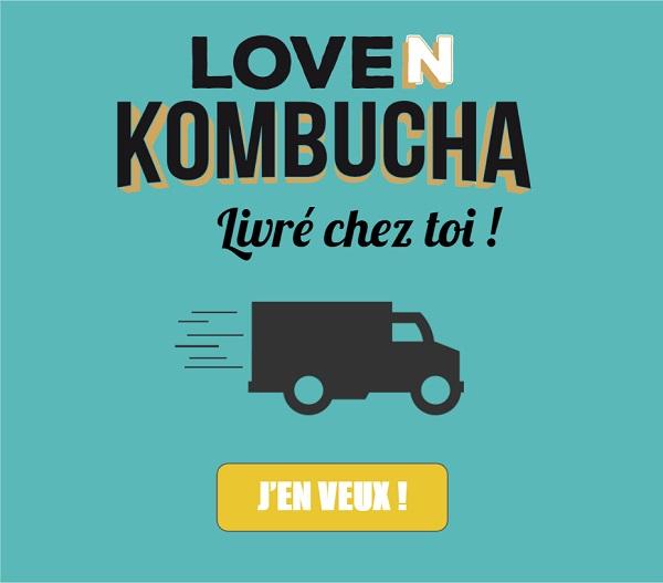 Loven Kombucha livre chez toi